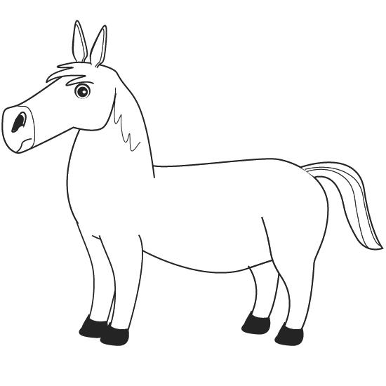 colorear caballo
