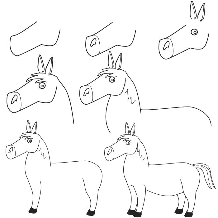 dibujos caballo