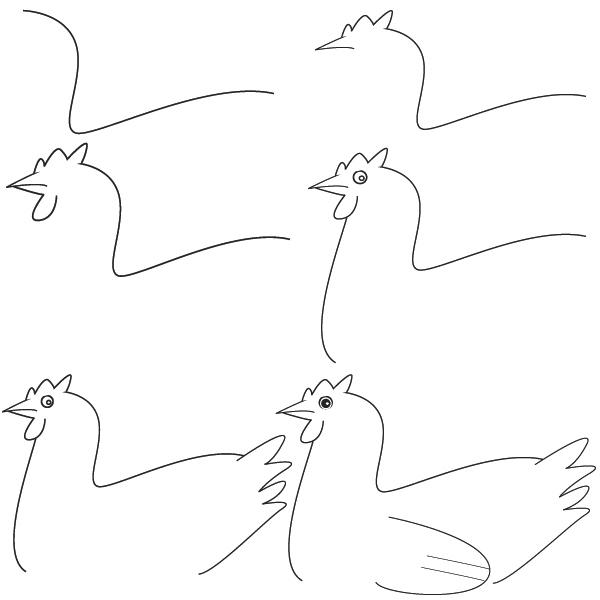 dibujos gallina