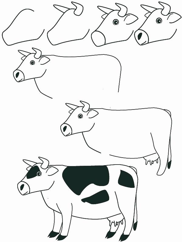 dibujos vaca